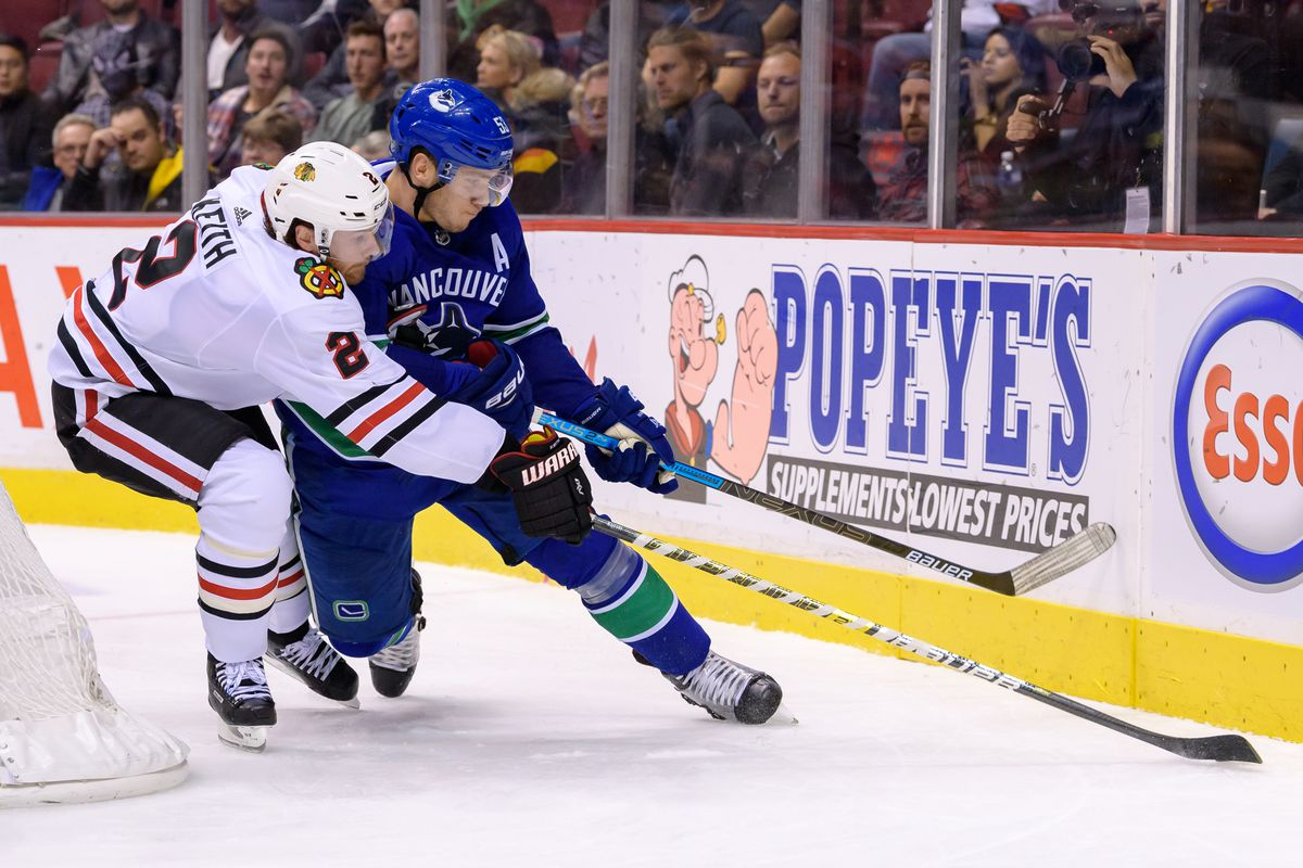 NHL: OCT 31 Blackhawks at Canucks