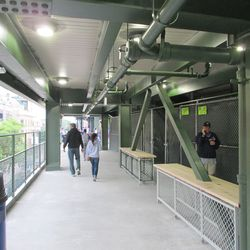 6:25 p.m. View looking south, under the right-field porch -