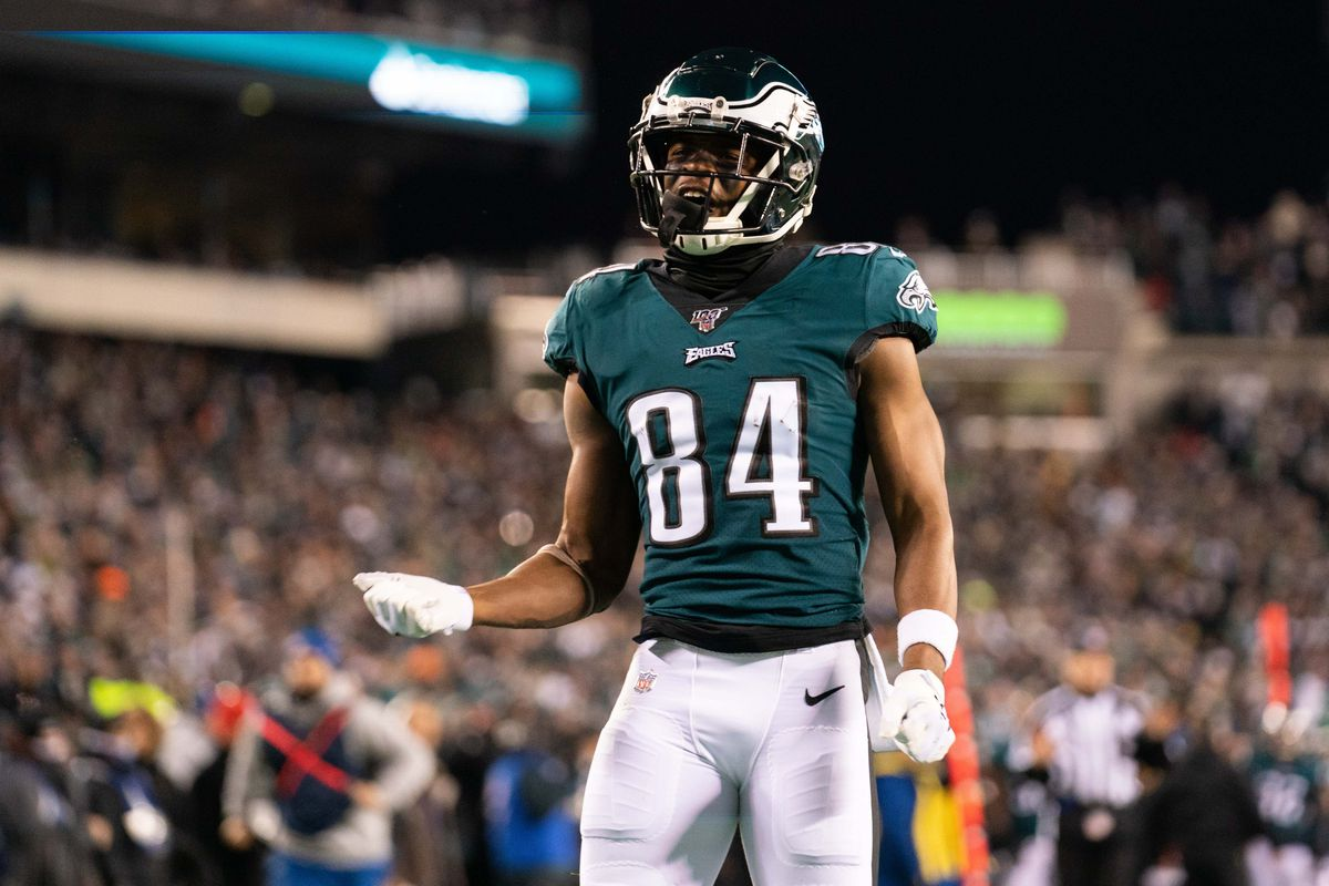 Philadelphia Eagles wide receiver Greg Ward reacts against the Seattle Seahawks during the third quarter in a NFC Wild Card playoff football game at Lincoln Financial Field.