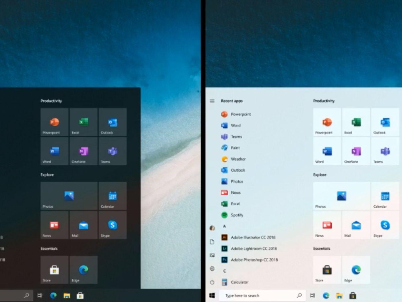 Microsoft Teases New Windows 10 Start Menu That De Emphasizes Live Tiles The Verge