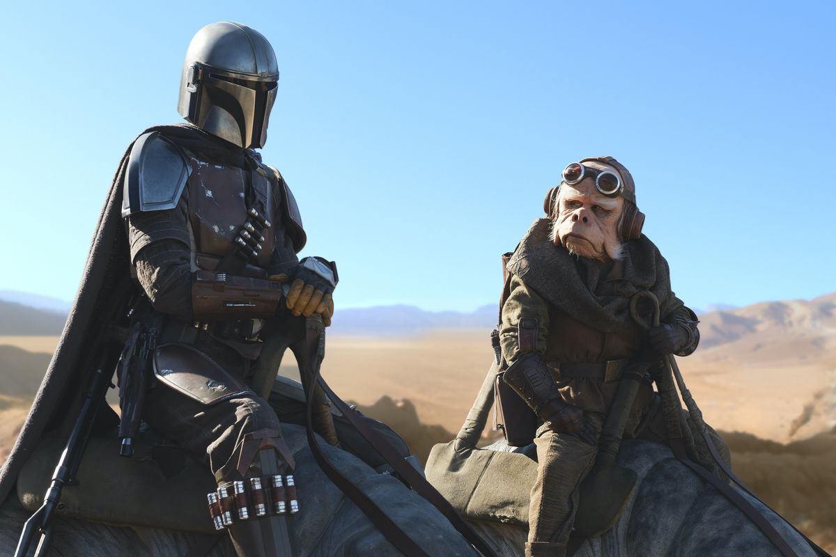 """Pedro Pascal is the Mandalorian and Nick Nolte is Kuiil in """"The Mandalorian,"""" exclusively on Disney Plus."""