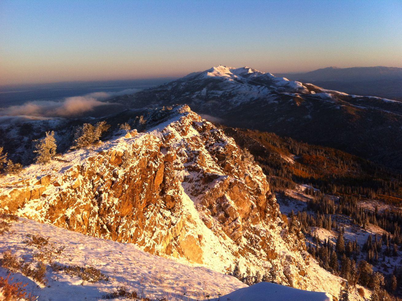At the top of Bountiful Peak.
