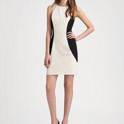 "<a href=""http://www.saksfifthavenue.com/main/ProductDetail.jsp?PRODUCT%3C%3Eprd_id=845524446480105&FOLDER%3C%3Efolder_id=282574492827509&bmUID=jsLhvs1&esre=fshnstrepisode9pdp1"">Fashion Star Sheath Dress by Orly Shani</a>, $295 at Saks"