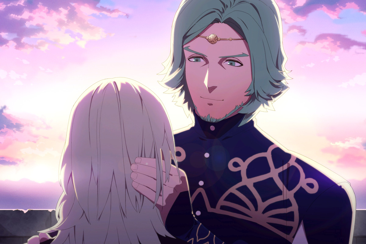 Seteth, a major character in Fire Emblem: Three Houses, during a support conversation