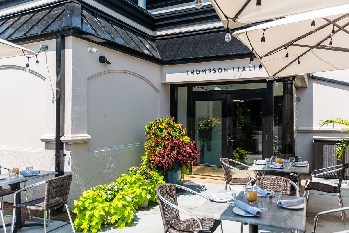 The outdoor seating area at Thompson Italian.