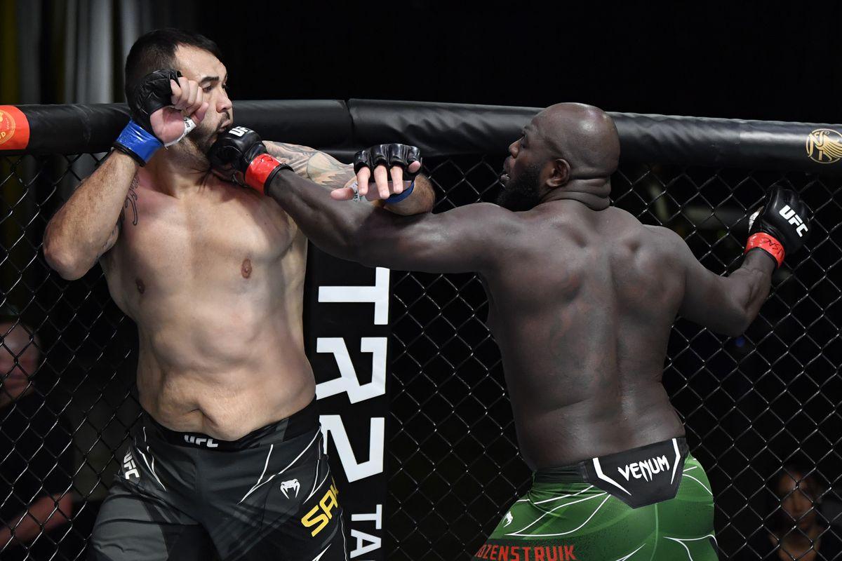 Jairzinho Rozenstruik delivers vicious last-second knockout against Augusto Sakai in UFC Vegas 28 main event - MMA Fighting