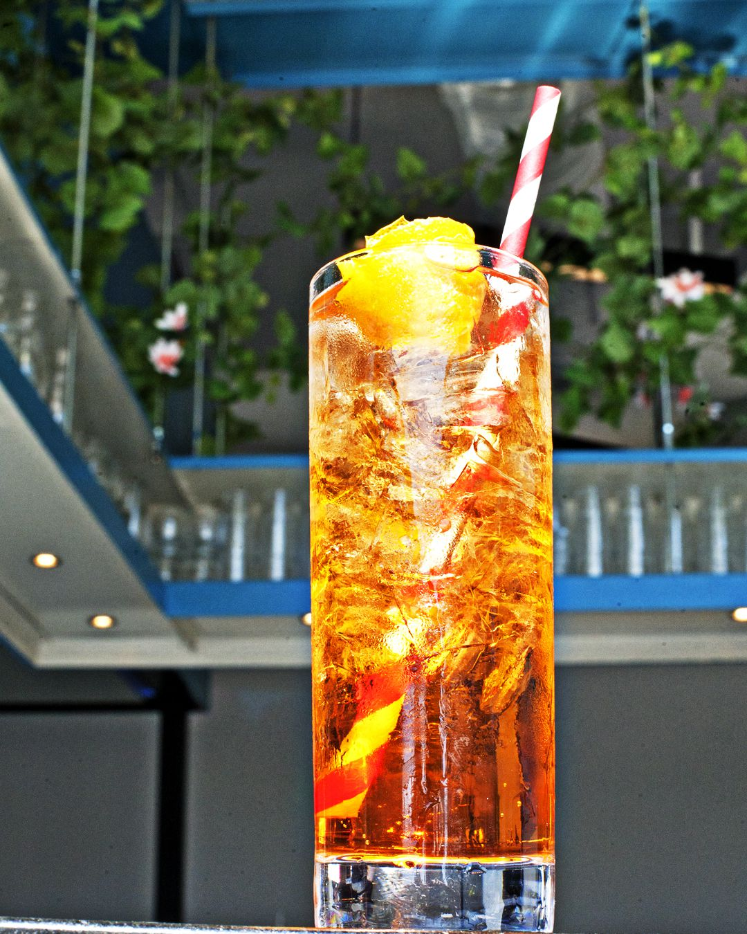 A low-ABV ginger spritz called Italico-Iberico comes with Aperol, Fino, and Lukas Smith's RB Ginger Beer.