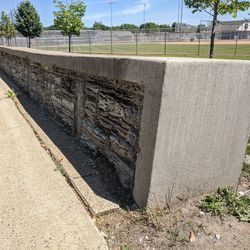 New Deal project: Harmon Park wall, West St. Paul, MN (WPA, 1941)