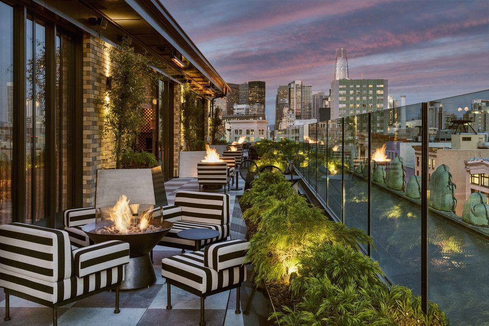 Rooftop lounge at Charmaine's
