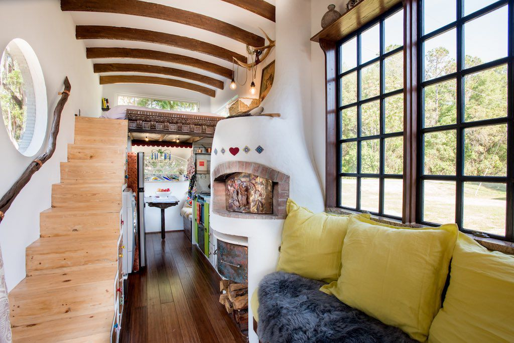 Dream Tiny House Comes With A Pizza Oven Fireplace Curbed
