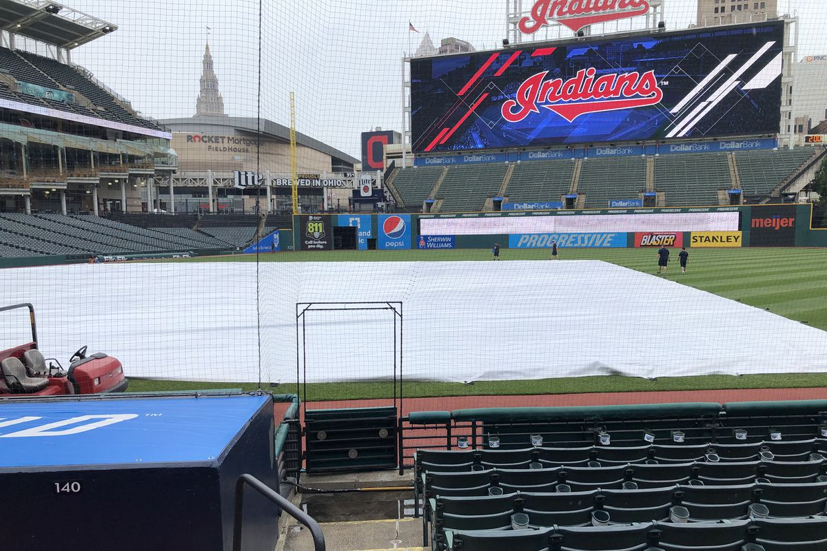 A wet Progressive Field in Cleveland forced the postponement of Wednesday's White Sox-Indians game.