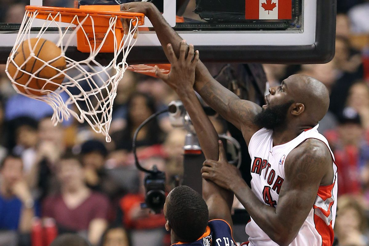 Acy capped off his career night with a vicious dunk on Michael-Kidd Gilchrest