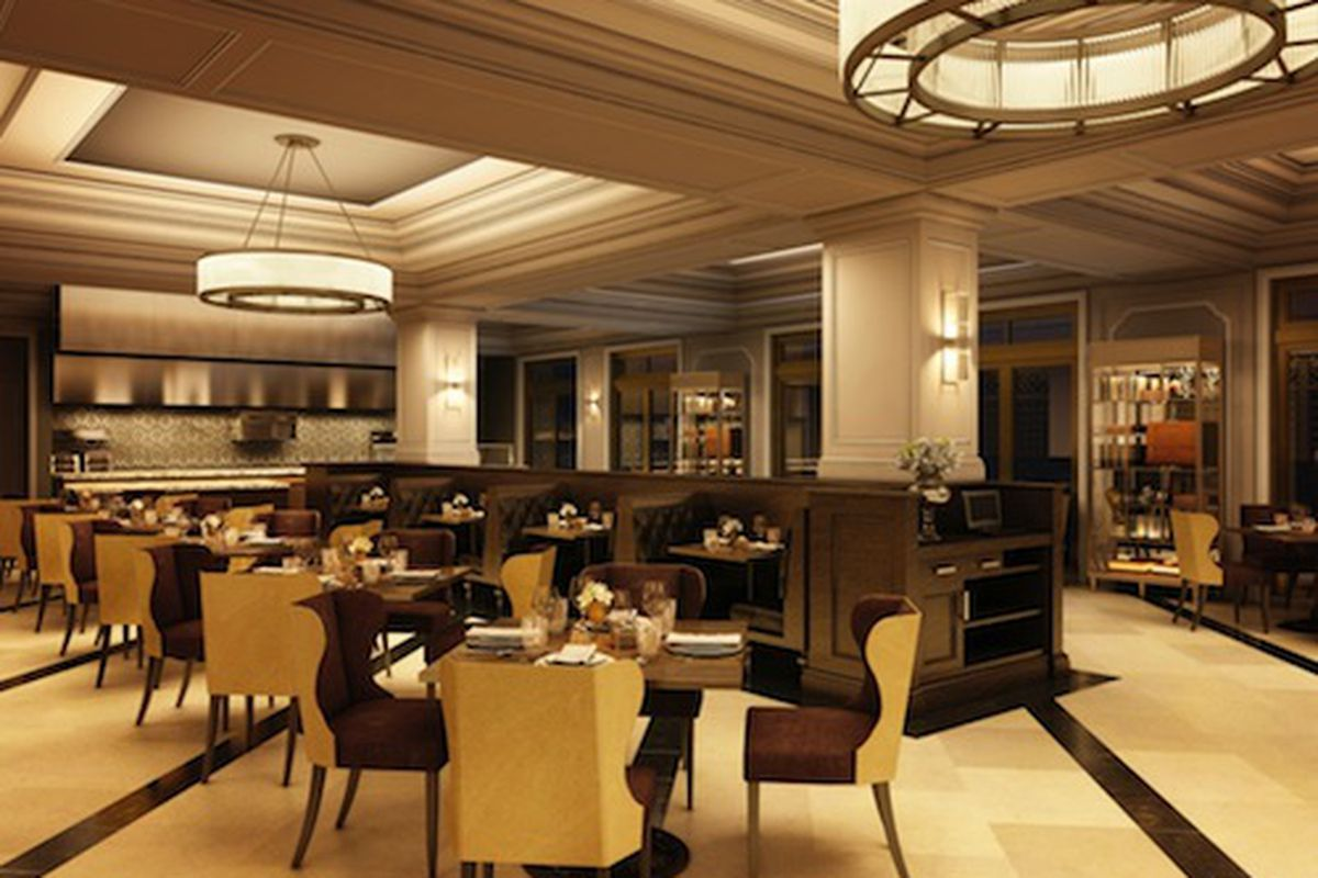 Rendering of the Criollo dining room courtesy of the Hotel Monteleone.