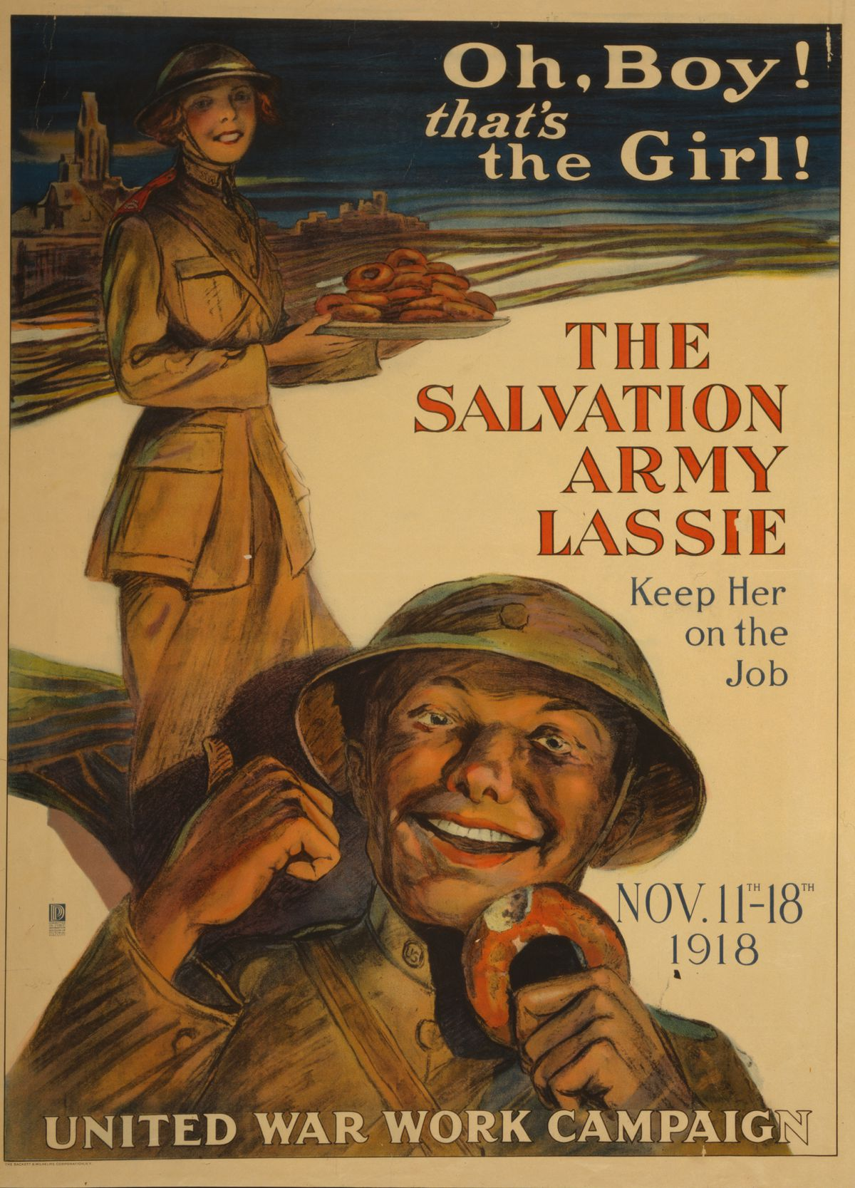 A poster from 1918. Follow you donut, you find the truth.