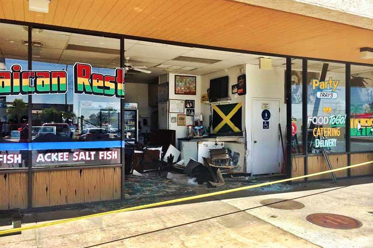 Accident at Tasty Island Jamaican Restaurant