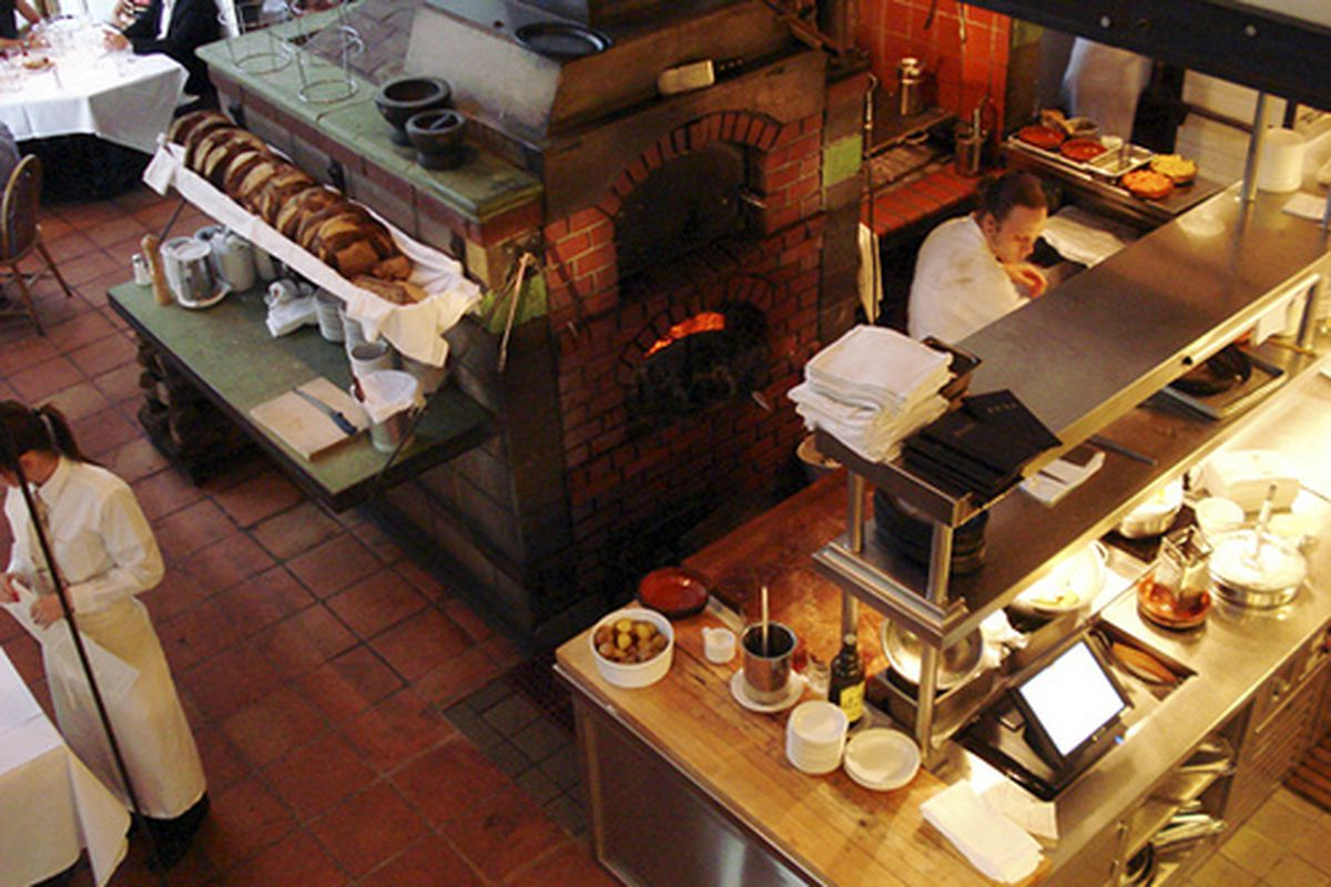 The kitchen and hearth at Zuni Cafe.