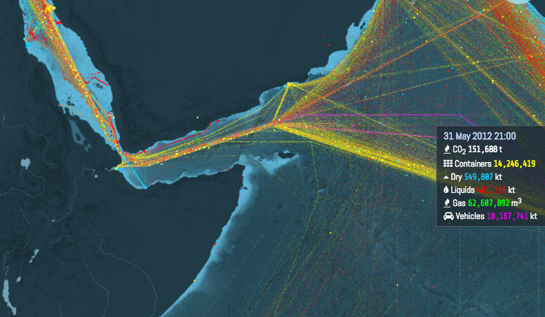 This is an incredible visualization of the world\'s shipping ...