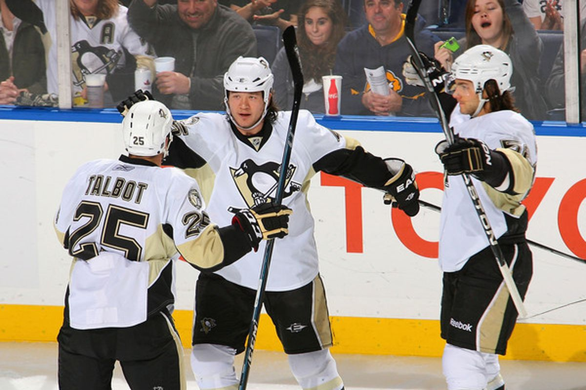 Pictured: two guys in this picture will be back with the Penguins in 2011-12.