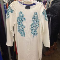 <b>Cynthia Rowley</b> dress, part of the blue star section, $67.50 (from $495)