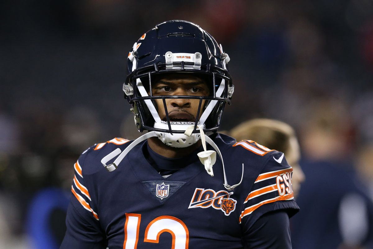 Wide receiver Allen Robinson of the Chicago Bears looks on before playing the Kansas City Chiefs in the game at Soldier Field on December 22, 2019 in Chicago, Illinois.