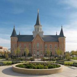 The north side of the Provo City Center Temple.