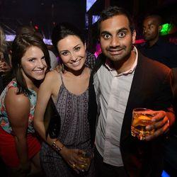 Aziz Ansari and friends at Hakkasan. Photo: Al Powers/Powers Imagery