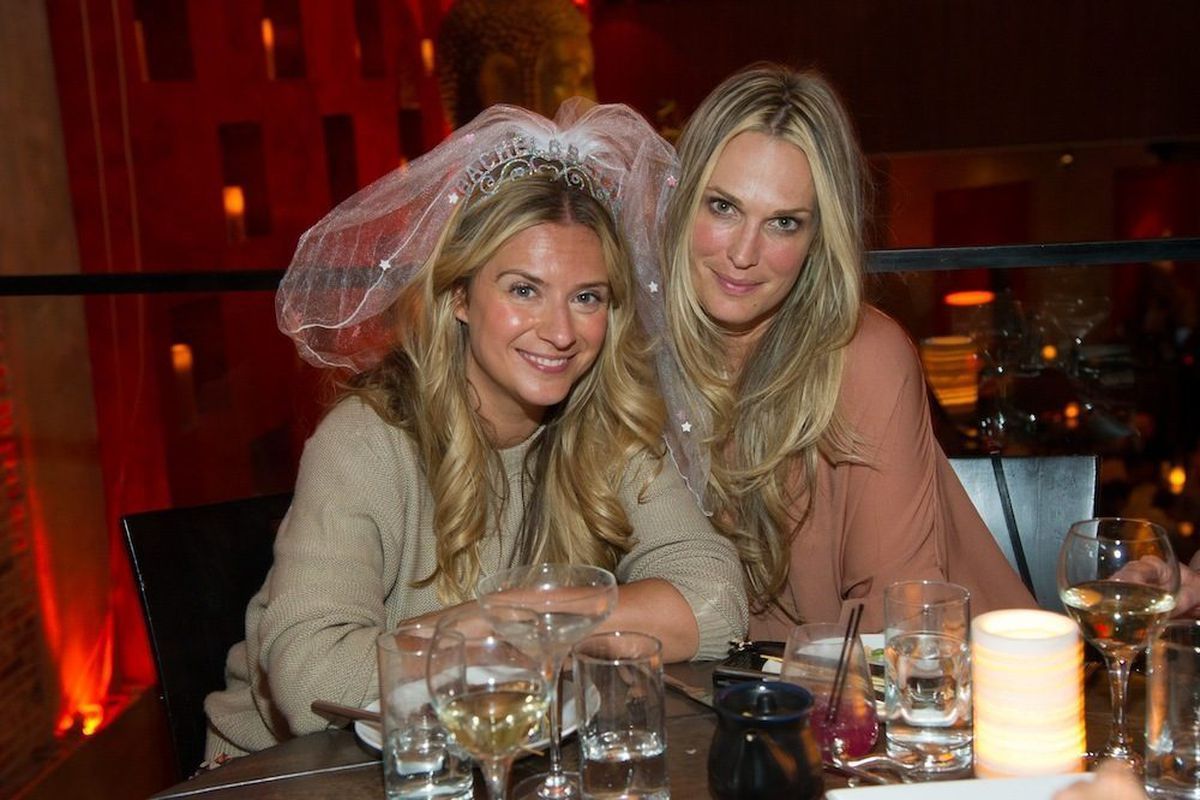 Actress Molly Sims helps a friend celebrate a bachelorette party at Tao Asian Bistro on Saturday night. Photo: Al Powers/Powers Imagery