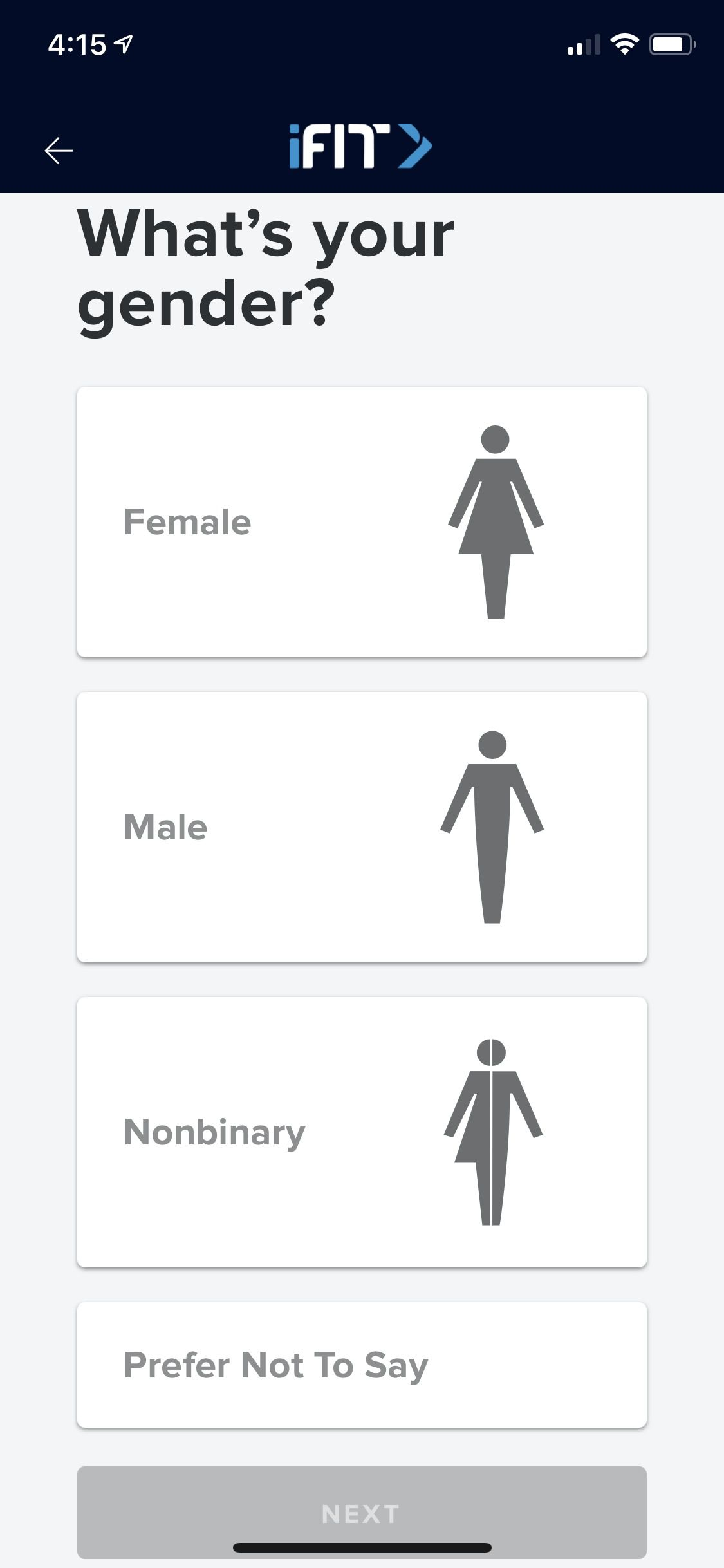 The question now asked is what is your gender and there is an option to decline a response.