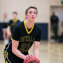 The Eagles from Layton Christian upset 5A Roy Royals 67-59, Friday December 8, 2017.