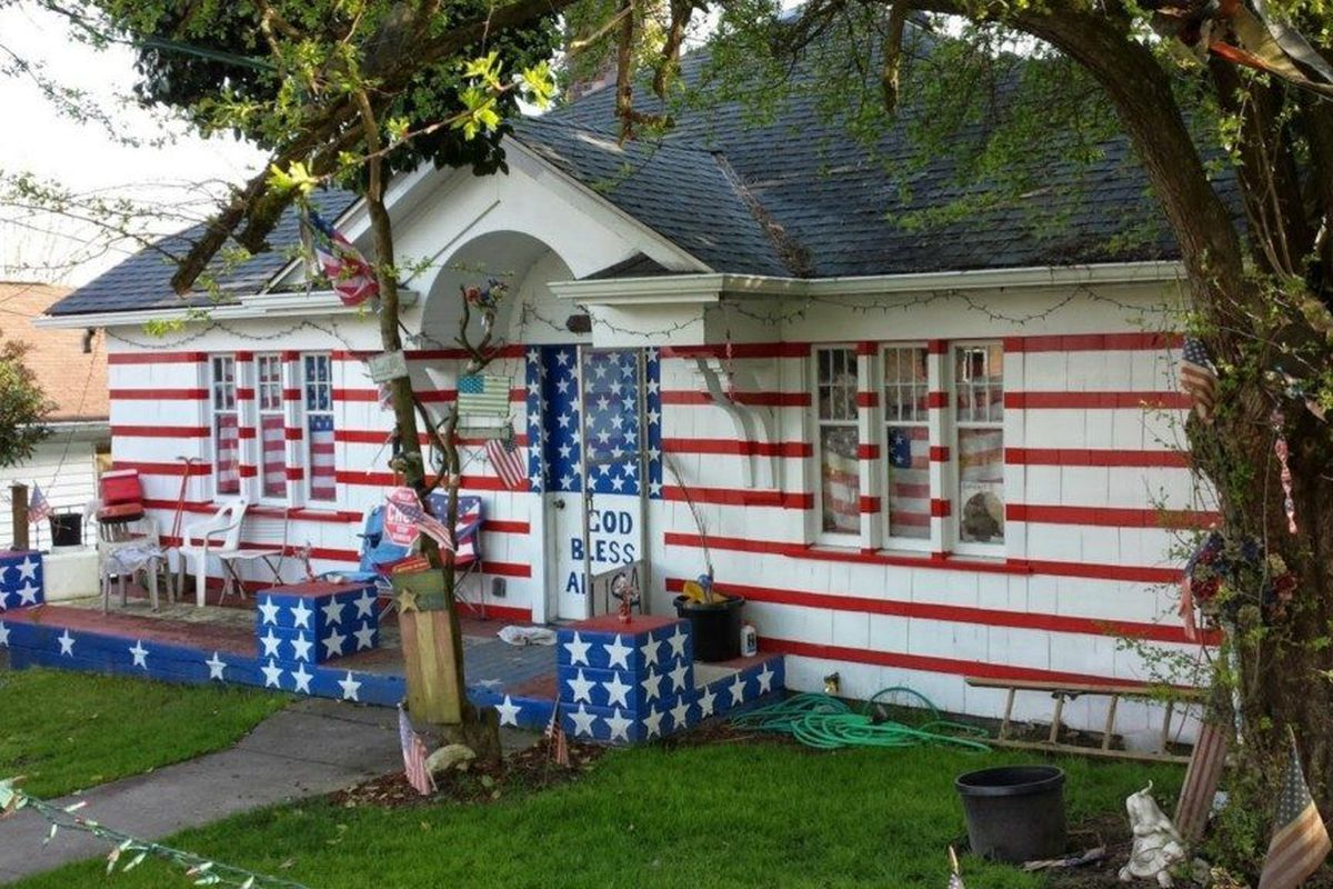 Please Stand Salute The Most American House In America