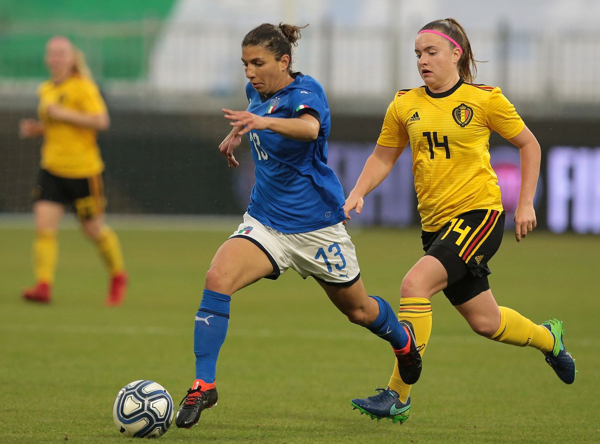 Italy Women v Belgium Women - FIFA Women's World Cup Qualifier