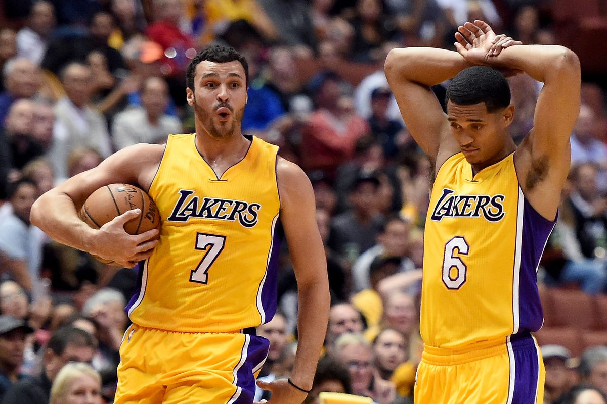 664dce21c87 Watch: Larry Nance, Jr. and Jordan Clarkson race during Lakers training  camp practice