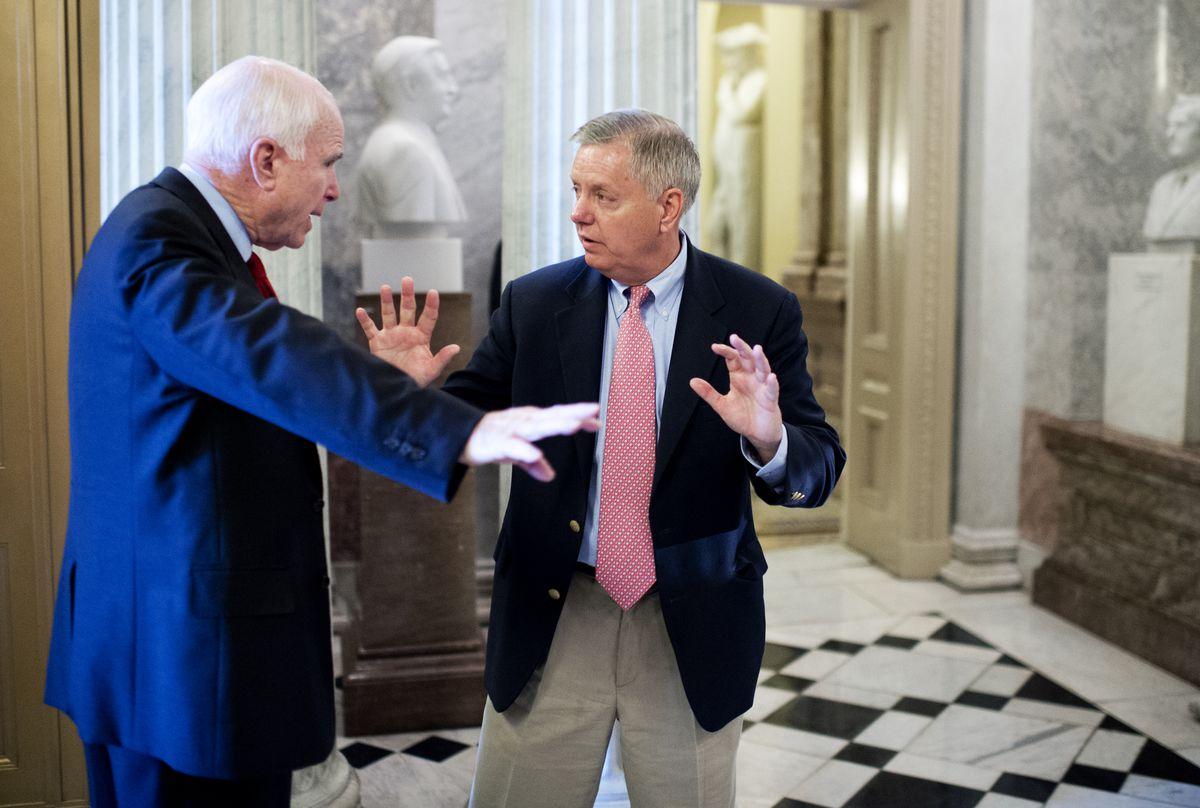 McCain graham talking