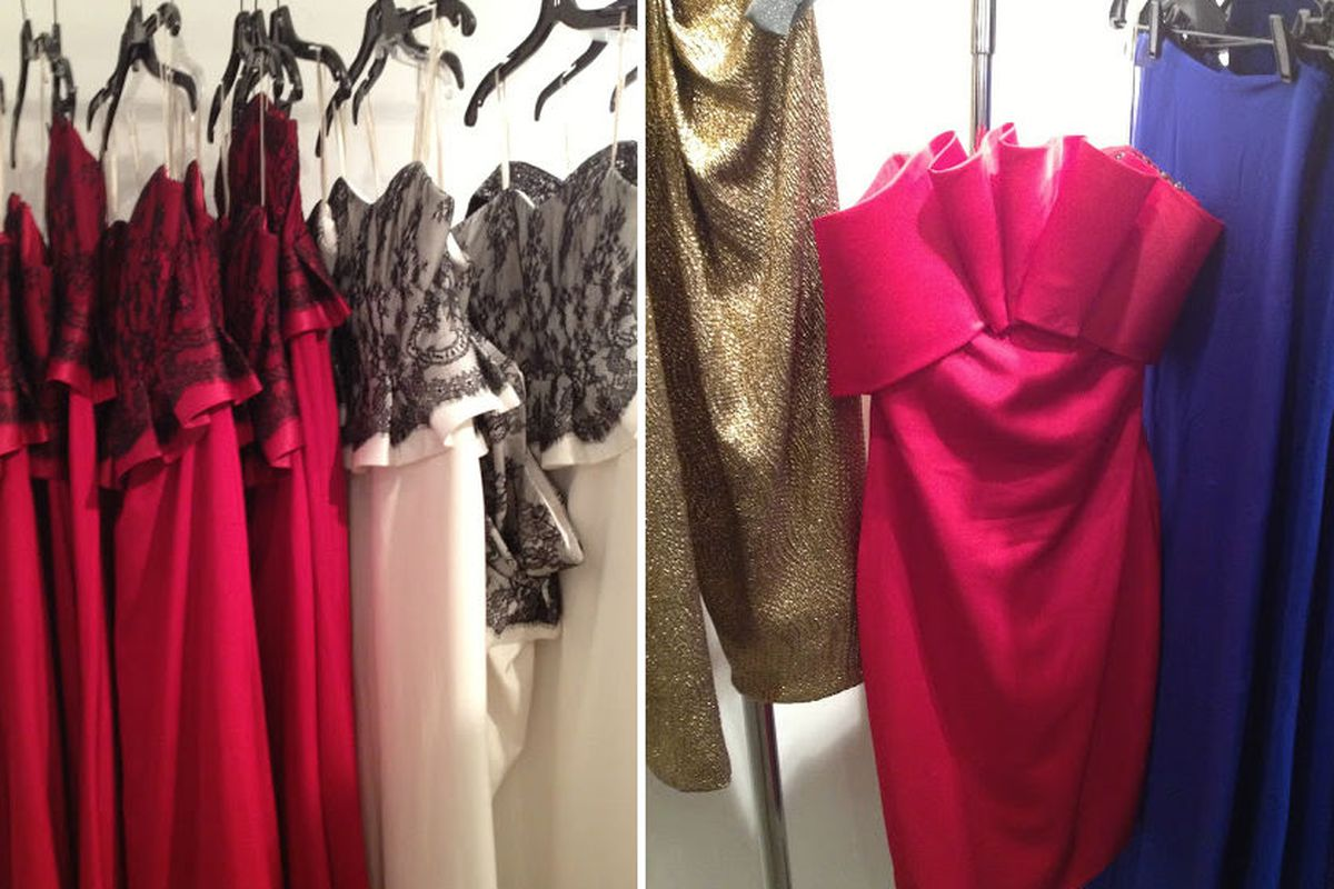 """$100 dresses. Photo by <a href=""""http://www.nykeiko.com/2012/12/in-pictures-marchesa-ny-sample-sale.html"""">New York à la Keiko</a>"""