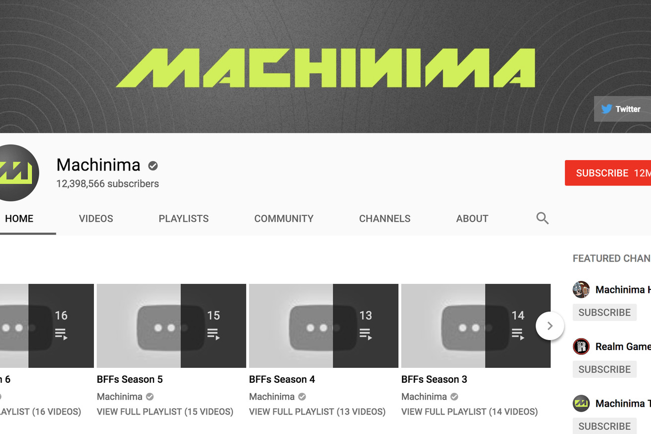 machinima one of youtube s biggest and oldest channels goes dark