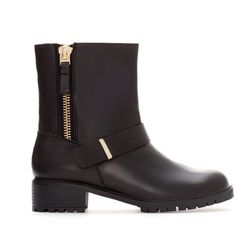 """<b>Zara</b> leather ankle boot with zip, <a href=""""http://www.zara.com/us/en/woman/shoes/leather-ankle-boot-with-zip-c269191p1295034.html"""">$159</a>"""