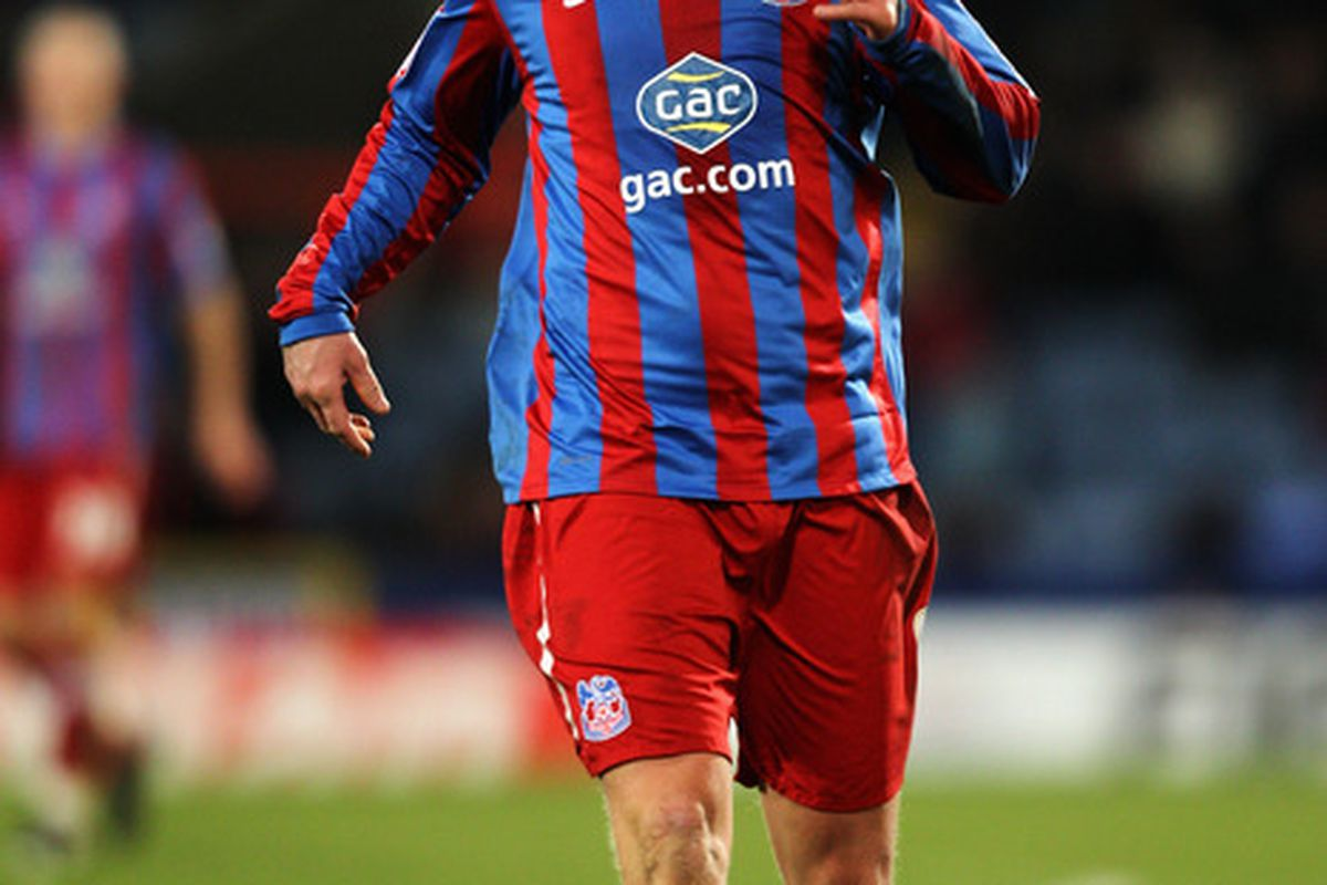 LONDON ENGLAND - JANUARY 22:  Steffen Iversen of Palace in action during the npower Championship match between Crystal Palace and Bristol City at Selhurst Park on January 22 2011 in London England.  (Photo by Dean Mouhtaropoulos/Getty Images)