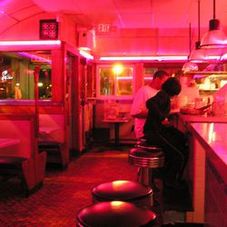 """<strong><a href=""""http://boston.eater.com/tags/south-street-diner"""">South Street Diner</a></strong>, Downtown.  One of Boston's very few 24-hour restaurants, this space was originally the Blue Diner, which opened in 1947, and it certainly looks the part wit"""