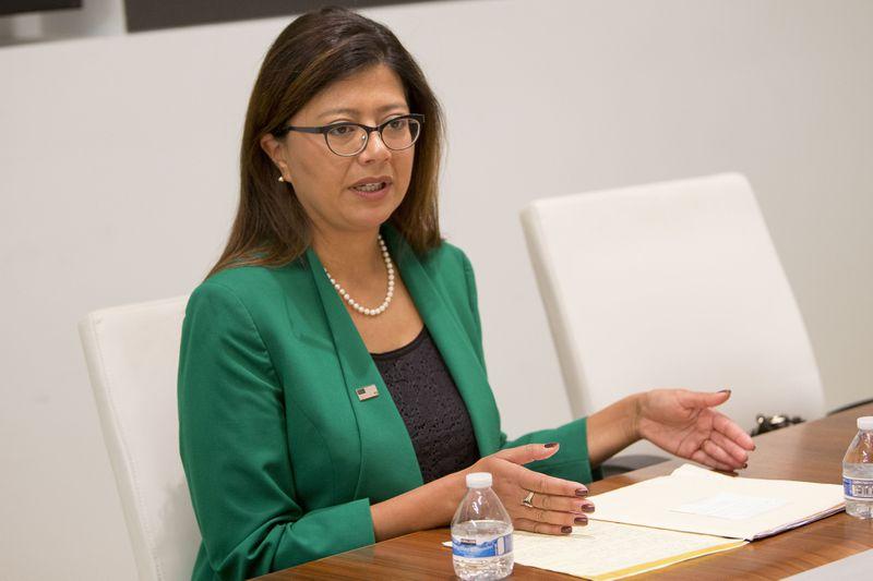 Then state Rep. Karina Villa in 2018.