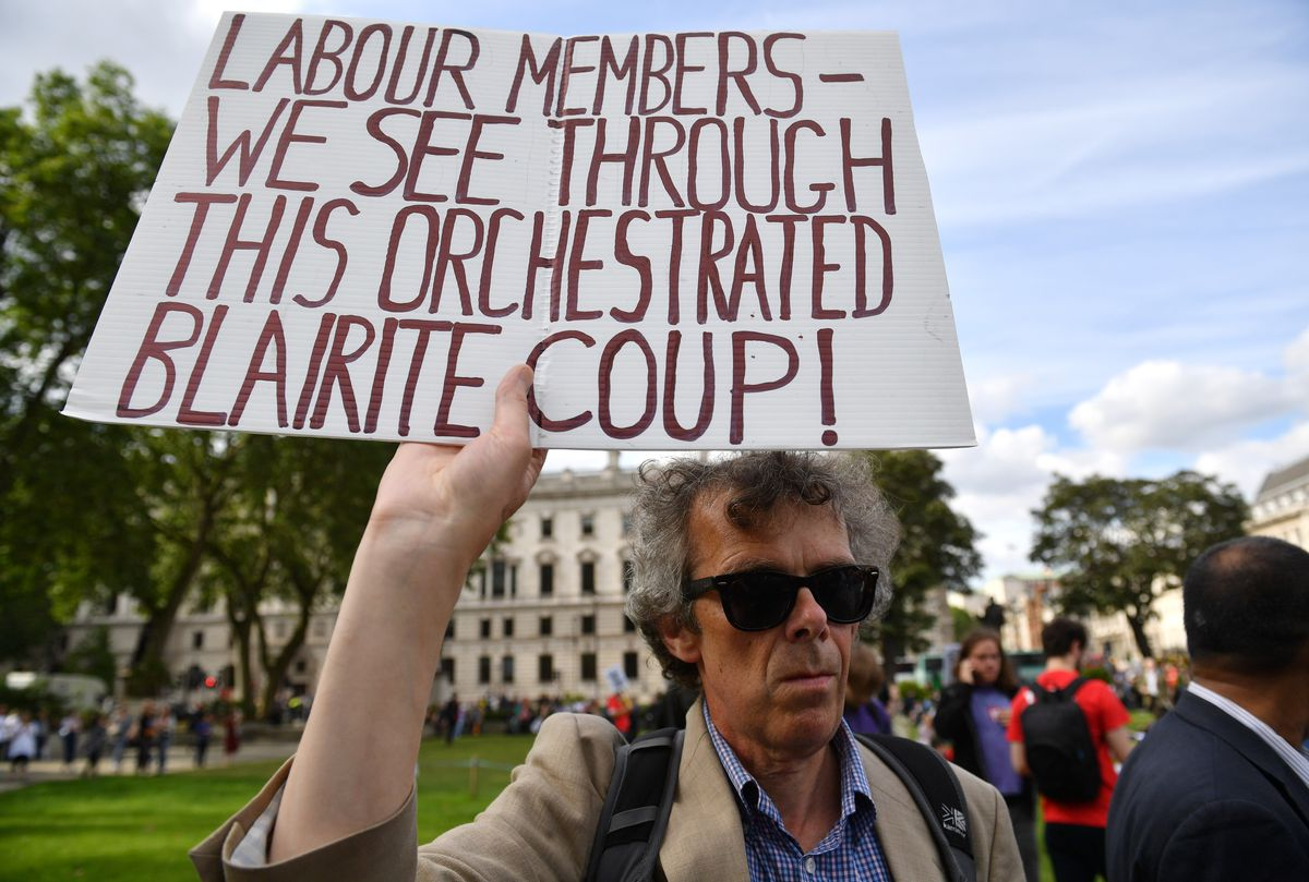 Momentum Members Rally In Support Of Jeremy Corbyn