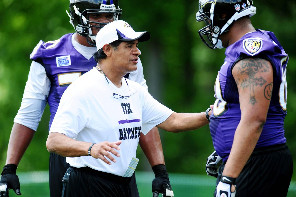 Juan Castillo is one Ravens assistant whose seat got warm fast in 2013.