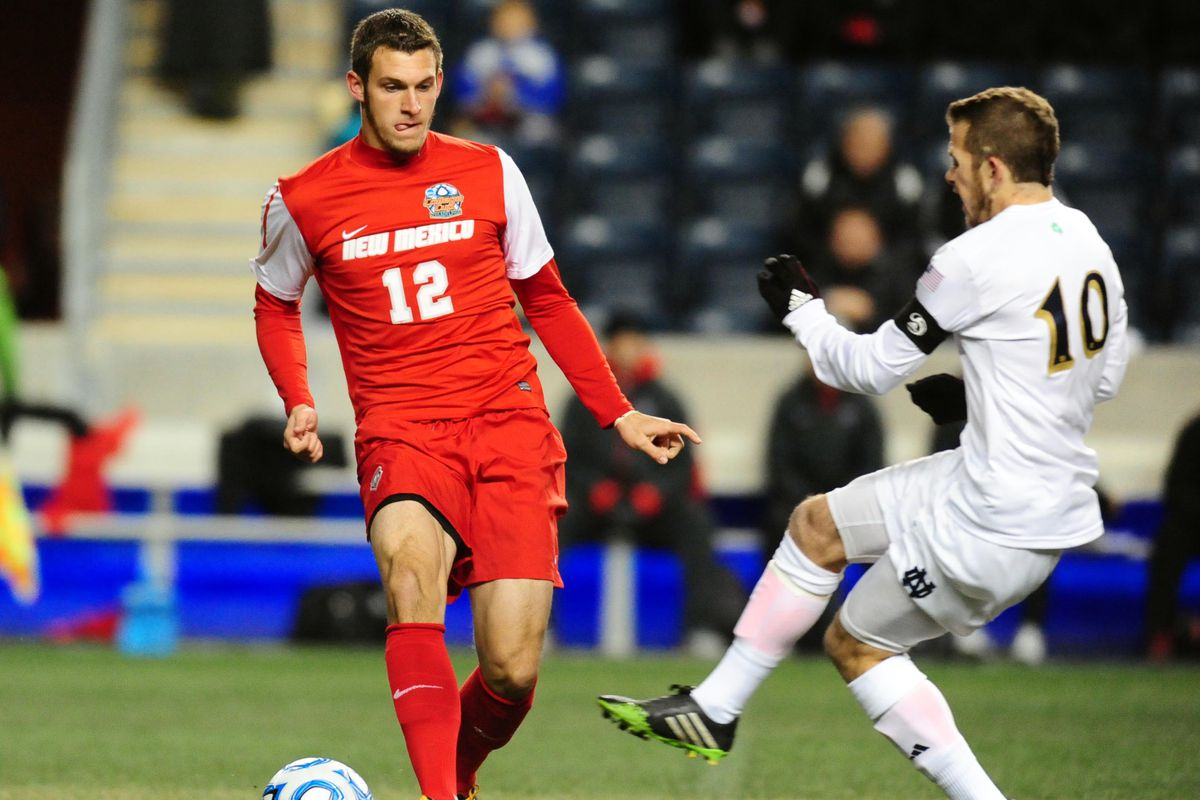Kyle Venter playing at PPL Park in the 2013 College Cup semifinal against Notre Dame