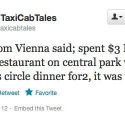 """Austrians <a href=""""https://twitter.com/nyctaxicabtales/status/282578051534057473"""">recommend</a> Jean Georges."""