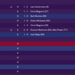 August's Results and September's Fixtures