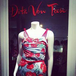 "The <a href=""http://www.shopdecadesinc.com/shop/viewproduct/6687"">Bon Bon Maxi Dress</a>, $995"