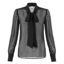 Bow Blouse in Black Swiss Dot, $34.99 (Available exclusively on Target.com and Net-A-Porter)