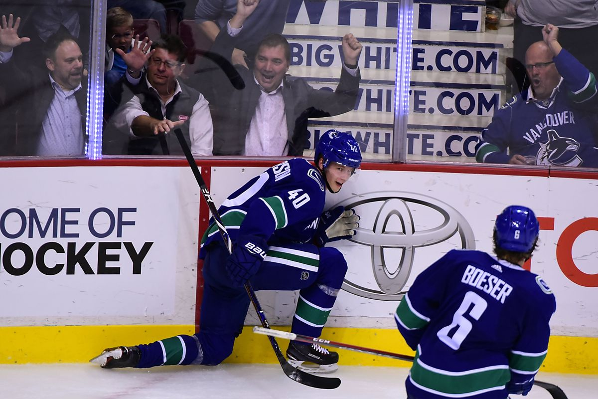 finest selection 21eb8 9c168 MacKinnon, Pettersson go blow for blow in 7-6 overtime ...