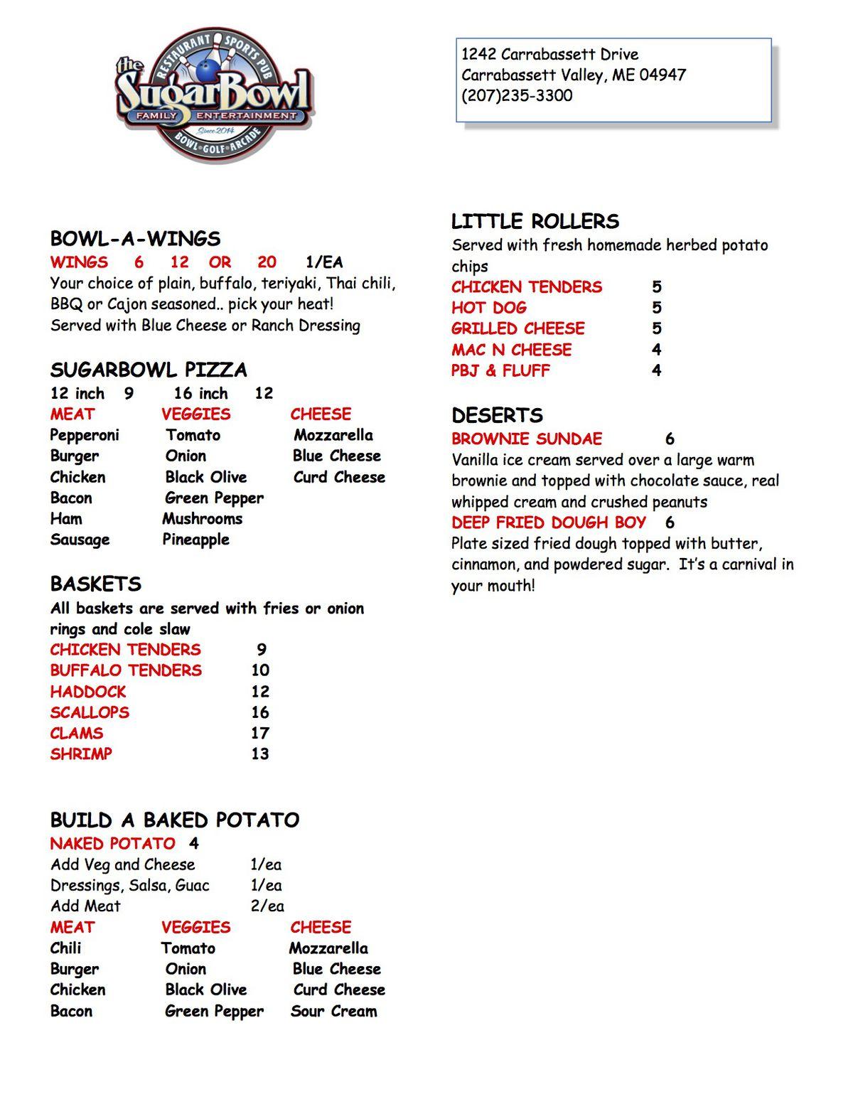 sugarbowl opening menu 2