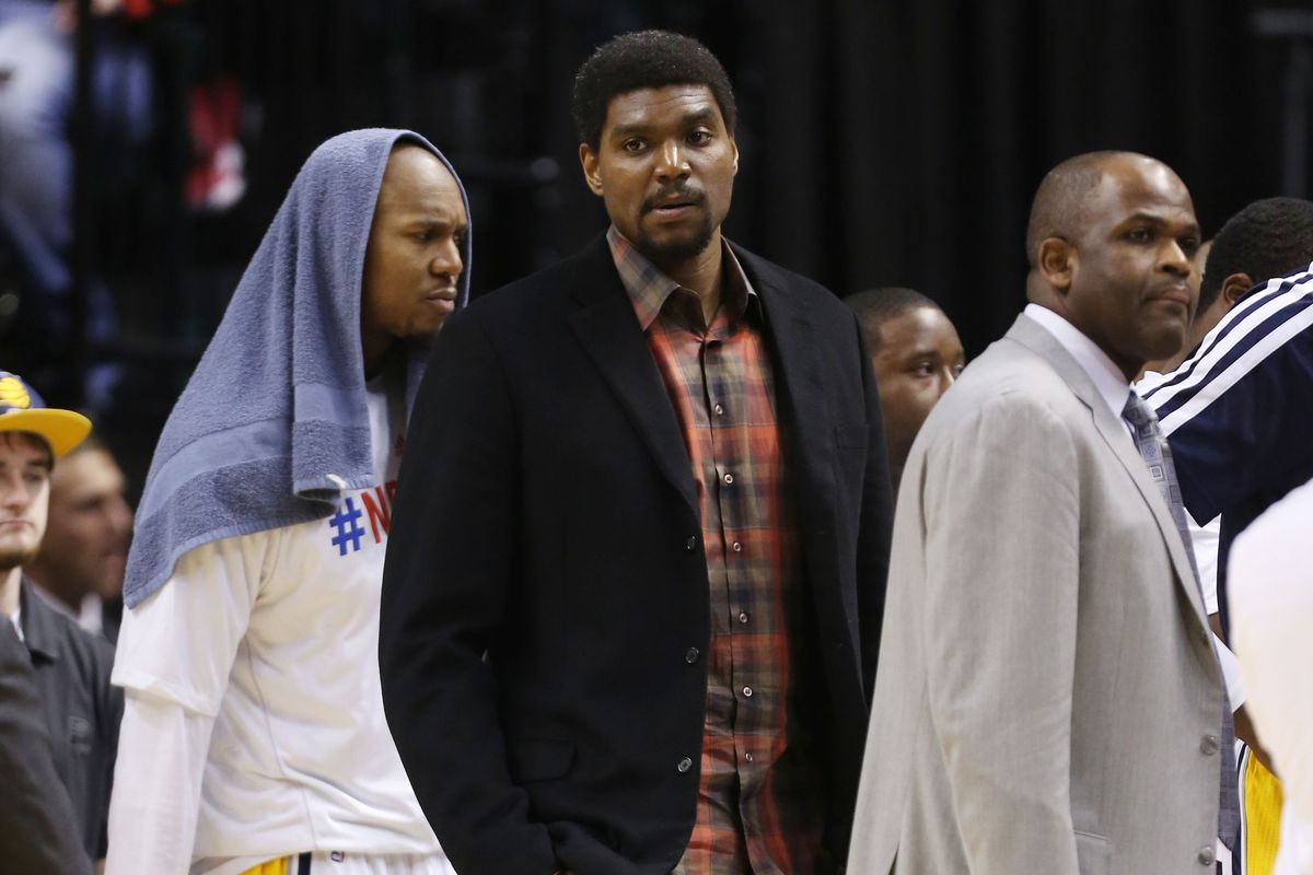 David West, Andrew Bynum, and Nate McMillan