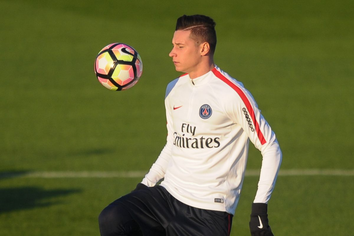 Press Conference and Training Session of Paris Saint Germain